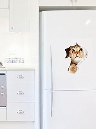 Ambiance Sticker Wandtattoo Cat In Hole