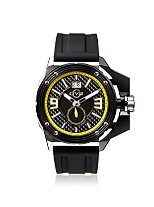 GV2 by Gevril Men's 9404 Grande Black Silicone Watch with an Extended Case