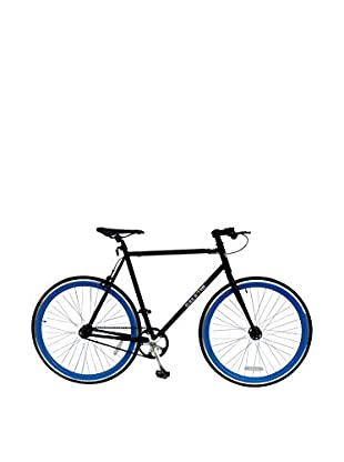 Galaxie Fixed Gear Bike, Black/New Blue, 58cm