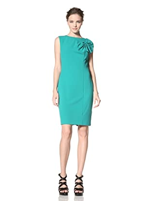 Calvin Klein Women's Sleeveless Solid Dress with Shoulder Bow Detail (Kelly Green)