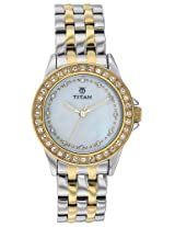 Titan Purple Analog White Dial Women's Watch - NE9798BM02J