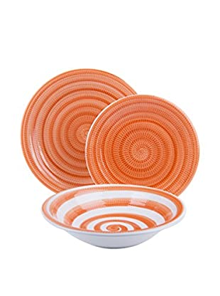 Molecuisine Geschirr 18 tlg. Set Old Italy orange