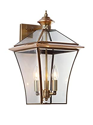 Safavieh Virginia 3-Light Sconce, Brass