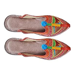 Decent and Fashionable Rajasthani Mojri Ladies Sleepers-Shoes