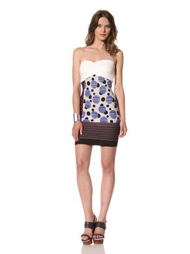 Cut25 Women's Techno Knit Strapless Dress (Multi)