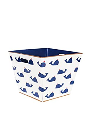 Malabar Bay Whales Navy Storage Bin, Blue