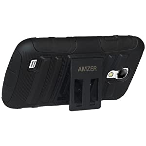 Amzer 95985 Hybrid Kickstand Case for Samsung Galaxy S4 Mini Duos GT-I9192 & GT-I9190