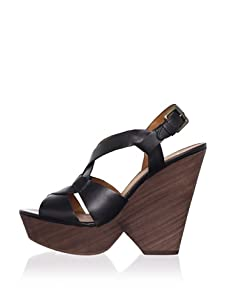 Ash Women's Roxy Bis Figure 8 Wedge Sandal (Black)