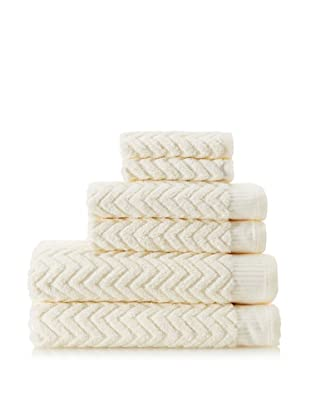 Espalma Sensational Zig-Zag 6-Piece Towel Set, Ivory