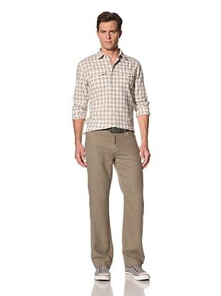 John Varvatos Star USA Men's Linen Authentic Pants (Wet Sand)