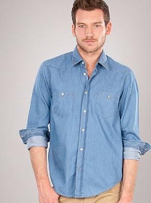 Hugo Boss Camisa Vaquera (Azul)