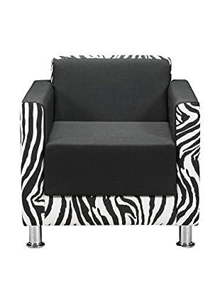 Officine Fiam Sessel Ribes schwarz/weiß