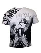 Iron Man Grey Mellange V Neck T Shirt