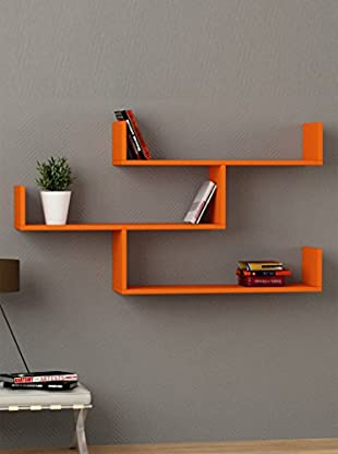 Decortie by Homemania Estante Tibet (Naranja)