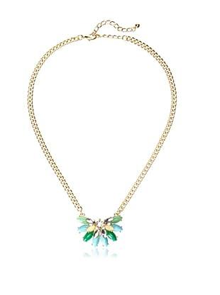 Sparkling Sage Floral Stone Necklace