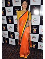 Kareena Looks Gorgeous In Orange Saree At Navel Show