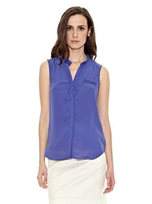 Cortefiel Camiseta Ribetes (Azul)