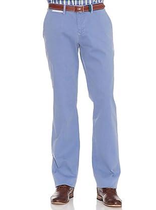 PEDRO DEL HIERRO Pantalón Liso Bordado (Azul)