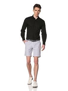 Brent Wilson The Basics Men's Tailored Cuff Short (Navy/White Stripe)