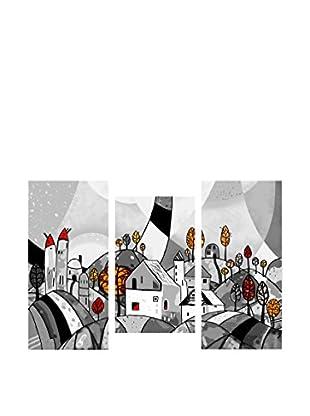 Contemporary Living Set Lienzo 3 Uds. Landscape Multicolor