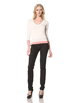 Just Cavalli Women's V-Neck Sweater (White)