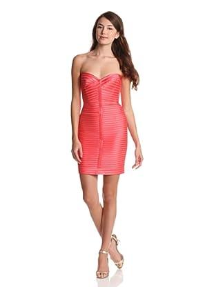 BCBGMaxazria Vestido Roxanne  ES 34 (Coral)