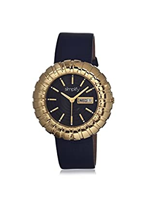 Simplify Women's 2104 The 2100 Black Leather Watch