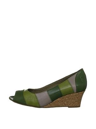 Fly London Zapatos Tricolor (Verde)