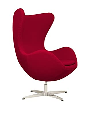 Euro Home Collection Evelyn Chair, Red