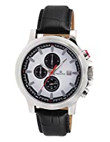 Maxima Chronograph White Dial Men's Watch - 27712LMGI