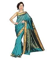 E-Vastram Cotton Silk Saree (Mpg _Green)