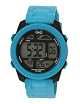 Q&Q Regular Digital Blue Dial Men's Watch - M123J004Y