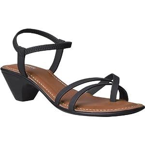 Bata Women Everyday Style Heels Sandals - Size 4   Article Code - 6616033   Colour : BLACK