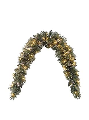 National Tree Company 6' Glittery Bristle Pine Mantel Swag