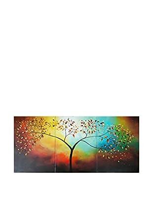 LegendArte  Wandbild 3er Set Vergoldeter Herbst