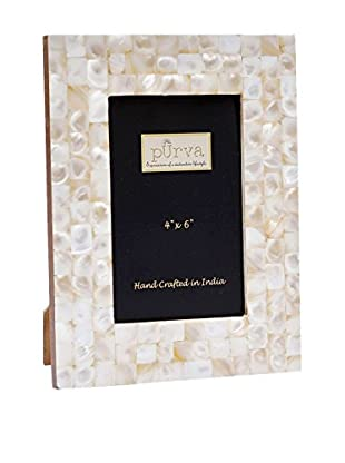Purva Mother of Pearl Frame (White)