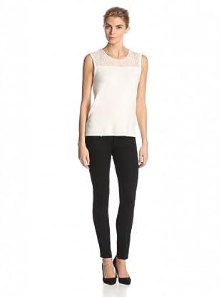 Calvin Klein Women's Sweater with Lace Yoke (Birch)