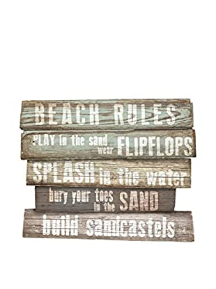 Really Nice Things Wandbild Signal Beach Rules