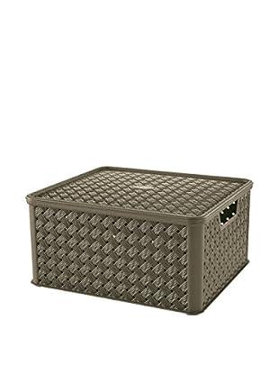 Tontarelli Caja Contenedor x 4 Arianna Grande 13L Marrón