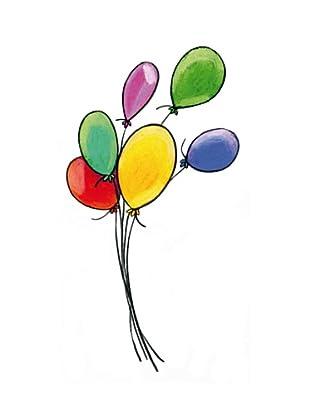 Beiwanda Kids Wandtattoo Bunte Luftballons
