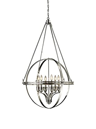 Artistic Lighting Hemispheres 6-Light Chandelier, Polished Nickel