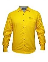 Spykar Casual Yellow Shirt