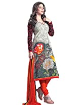 Admyrin Women's Cotton Printed Multi colour Salwar Kameez