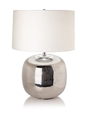 Lamp Works Serrated Aluminum Orb Table Lamp