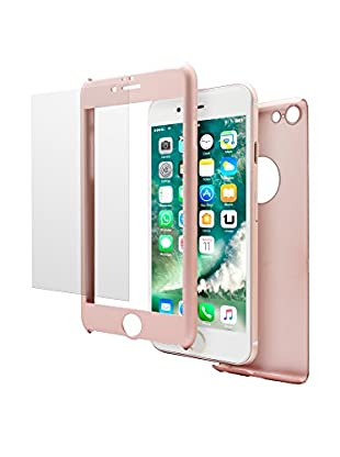 UNOTEC Carcasa 2 Piezas Pack Full Protect iPhone 7 Rosa