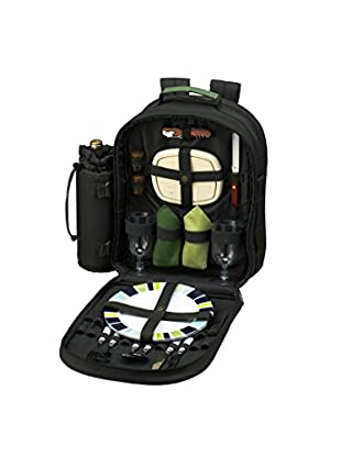 Picnic At Ascot Eco Backpack Cooler For Two, Forest Green