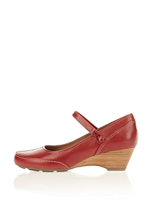 Clarks Harmonious Day 203513684, Scarpe col tacco donna (Rosso (Rot (Cherry Red)))