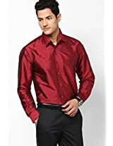 Solid Red Formal Shirt