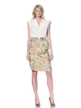 MARNI Women's Sleeveless Jacquard Dress (Stone White)