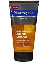 Neutrogena Men s Skin Clearing Acne Wash, 5.1 Ounce (Pack of 2)